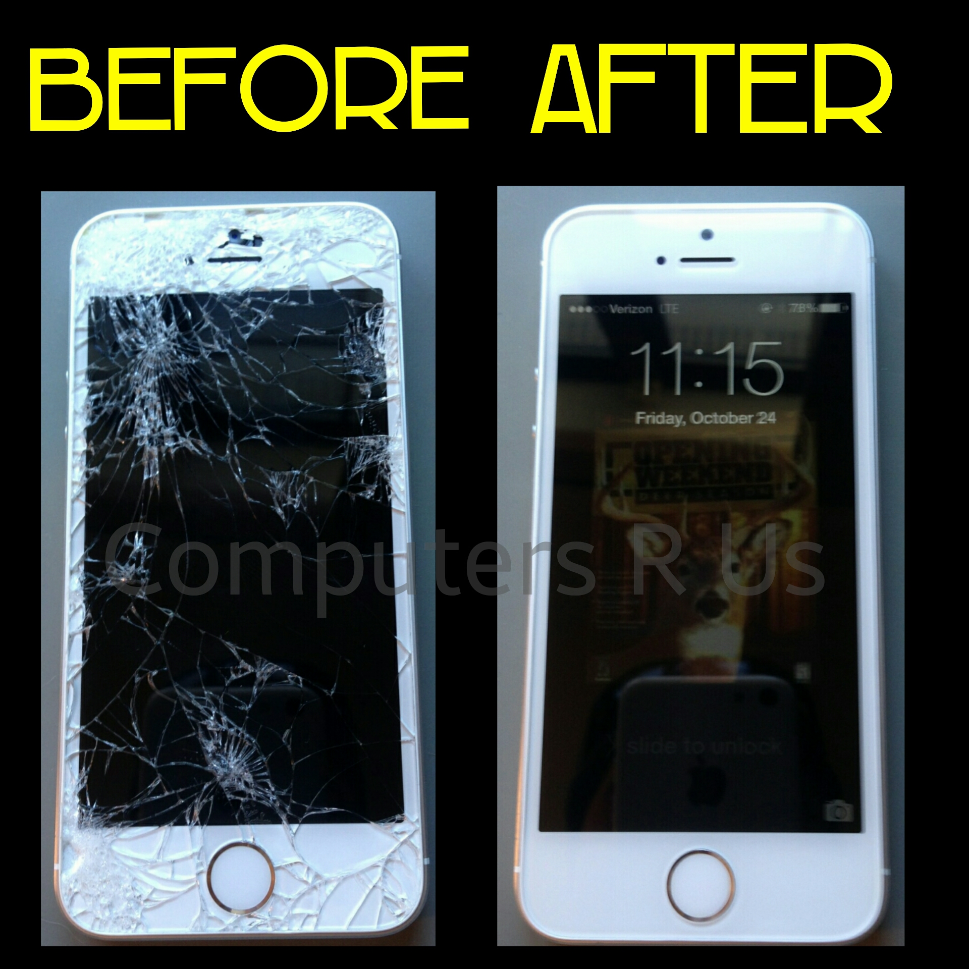 Iphone 6 Glass Replaced - Before/After