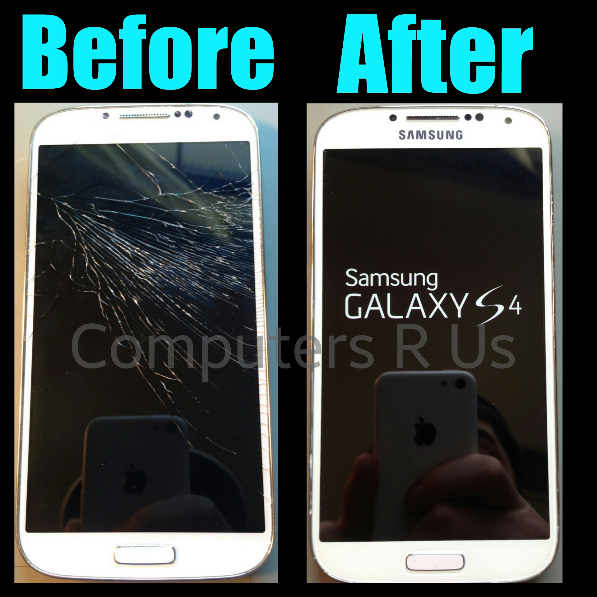 Galaxy S4 Glass Replaced - Before/After