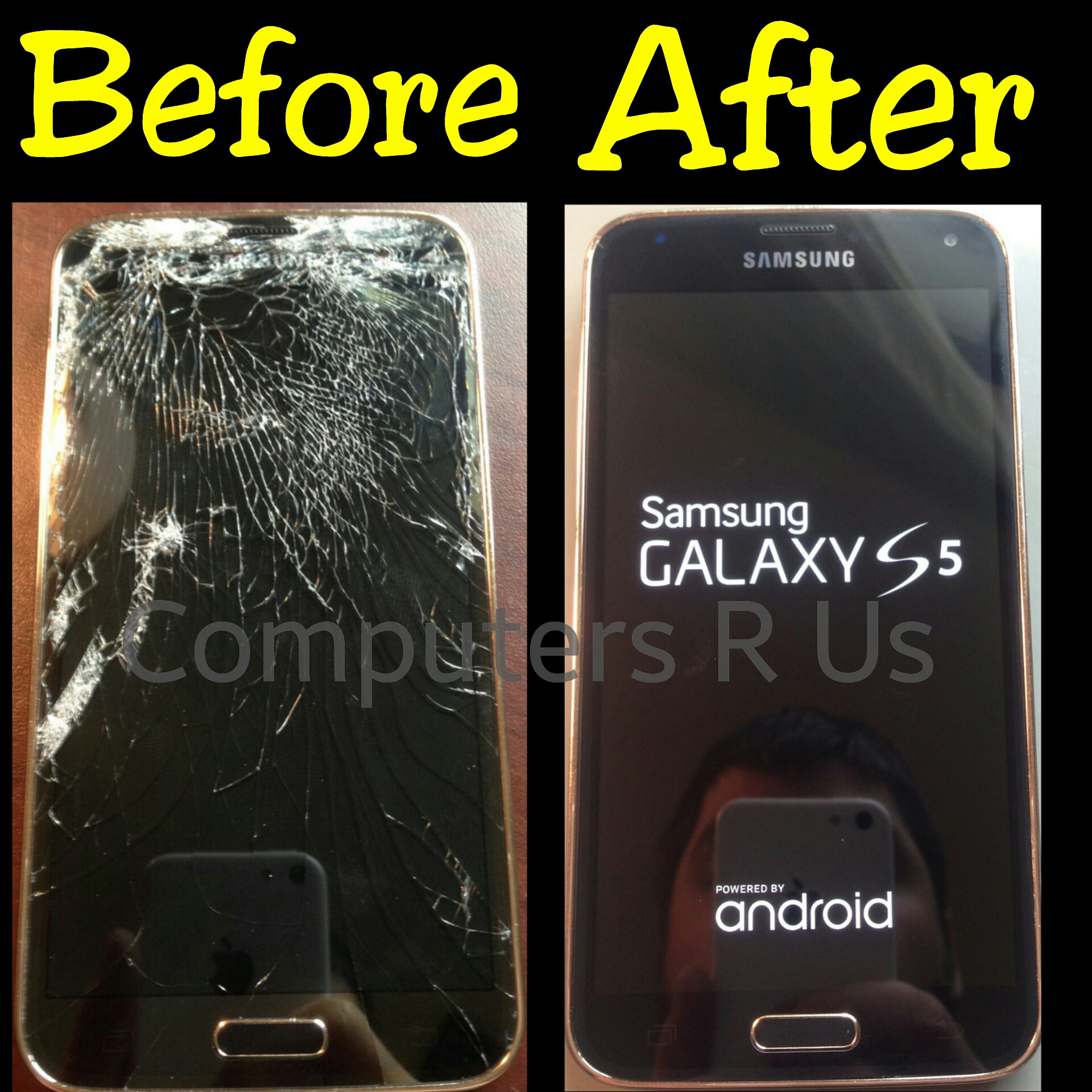 Galaxy S5 Glass Replaced - Before/After